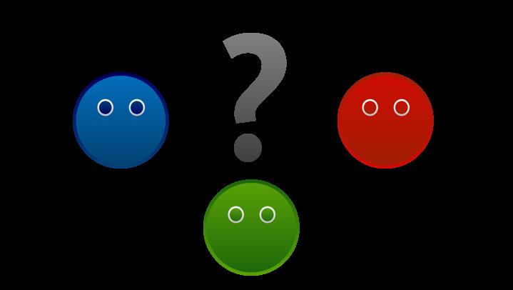 Tři hlavy a otazník - řešení je vhodné pro širokou klientelu
