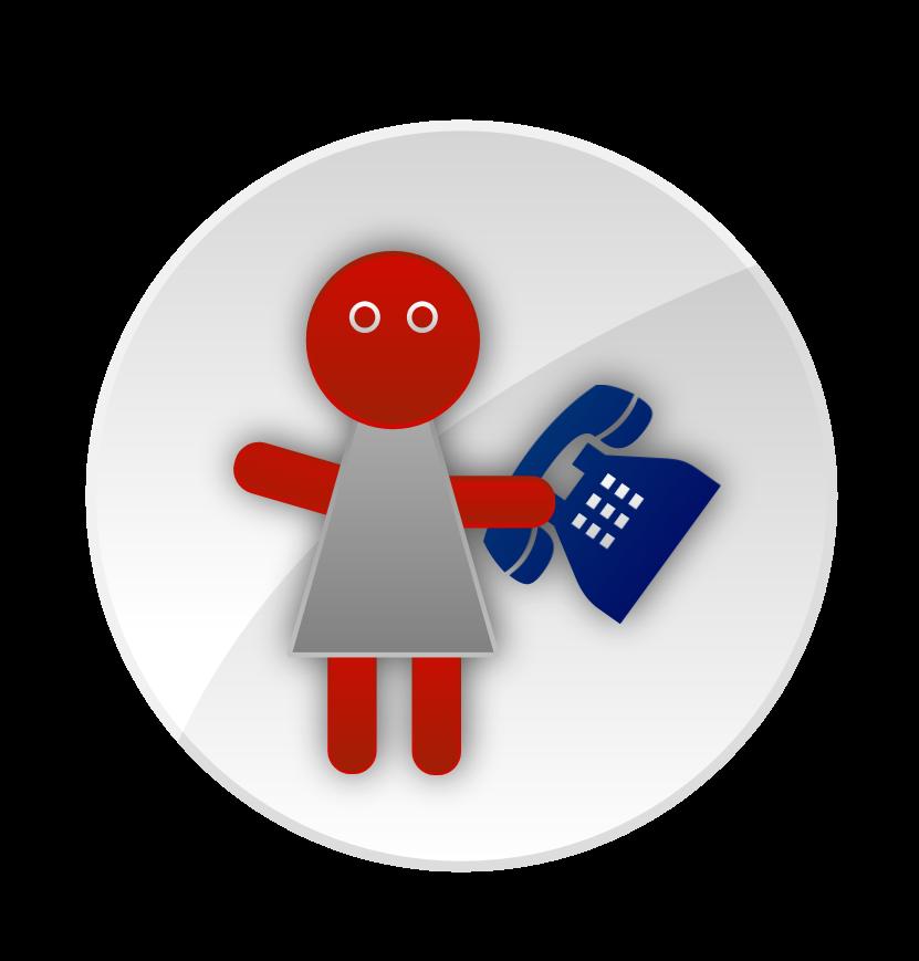 Datamix postavička - sekretářka s telefonem - s čím Vám můžeme pomoct?
