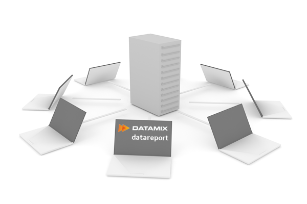 PC a server - datareport jako perfektní a provázané technické řešení výkazů práce a docházek
